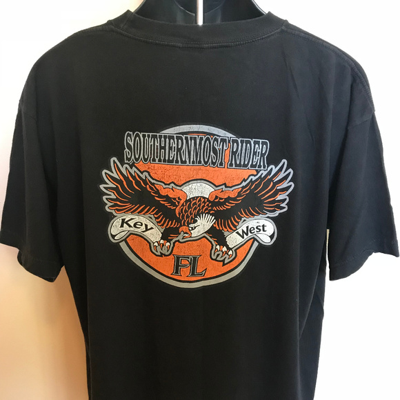 Vintage Other - 90s Southern Most Rider Key West Shirt Harley Bike